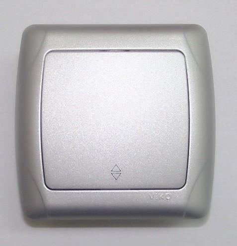 Viko Carmen сребрен алтернативен прекинувач