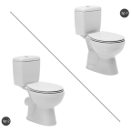 Ova wc шоља-моноблок 008300 (Со / Без тарет)