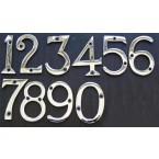 Бројки за врата  - 5x2.5 cm - хром