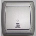 Viko Carmen временски сребрен прекинувач со светло